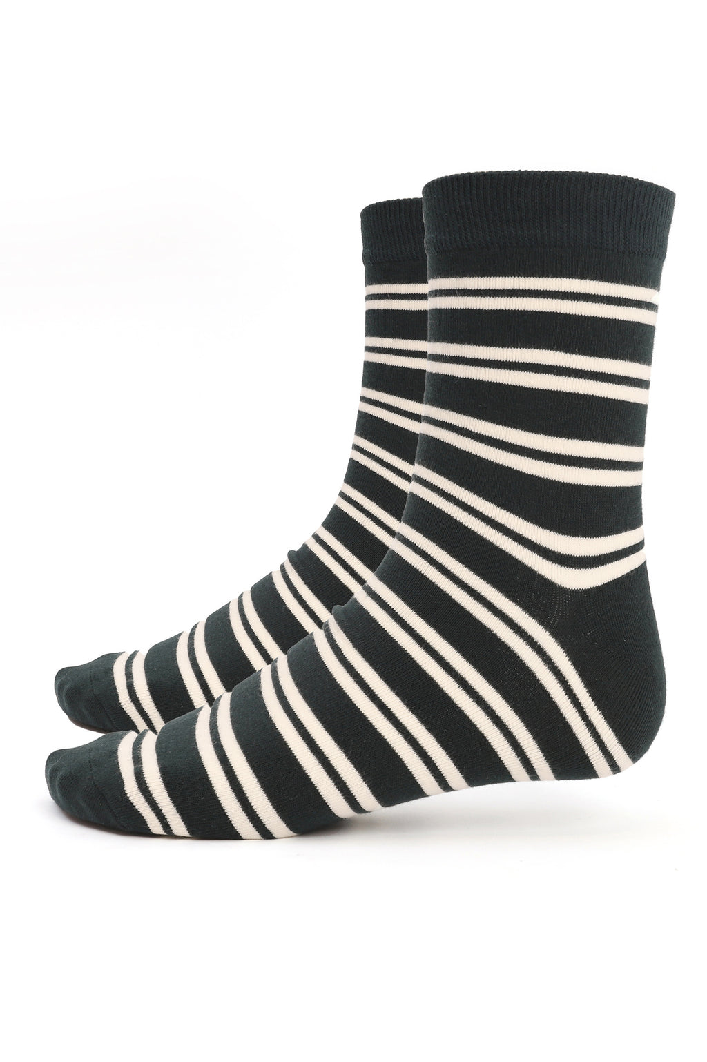 STRIPED SOCKS-GREEN-WHITE