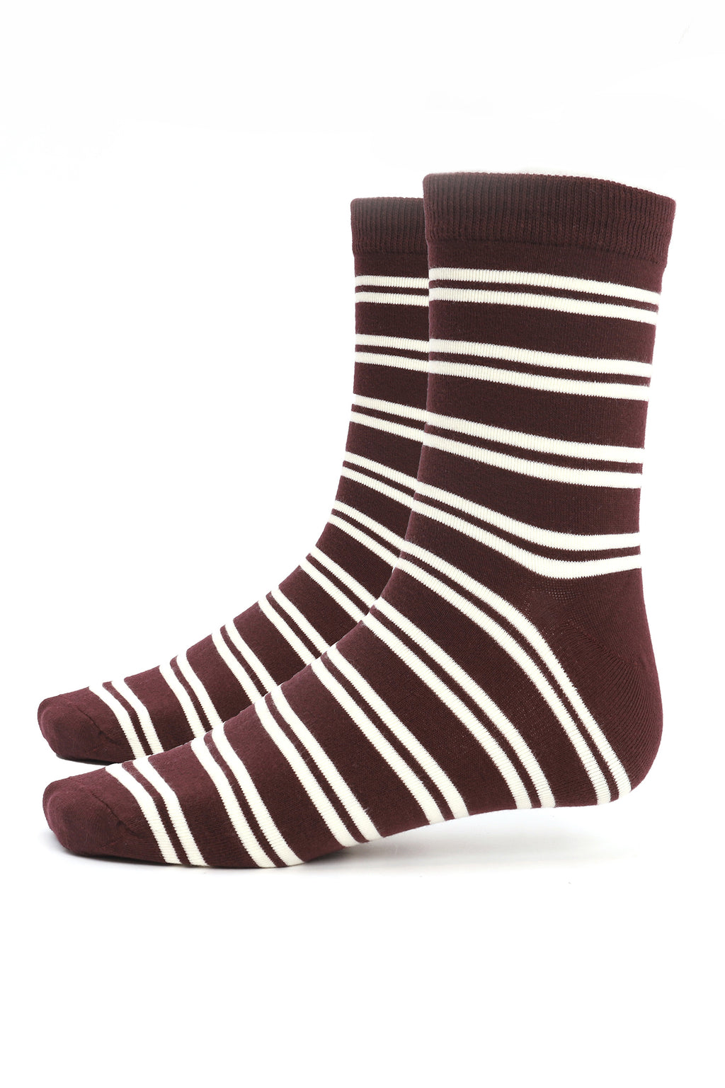 STRIPED SOCKS-RED-WHITE