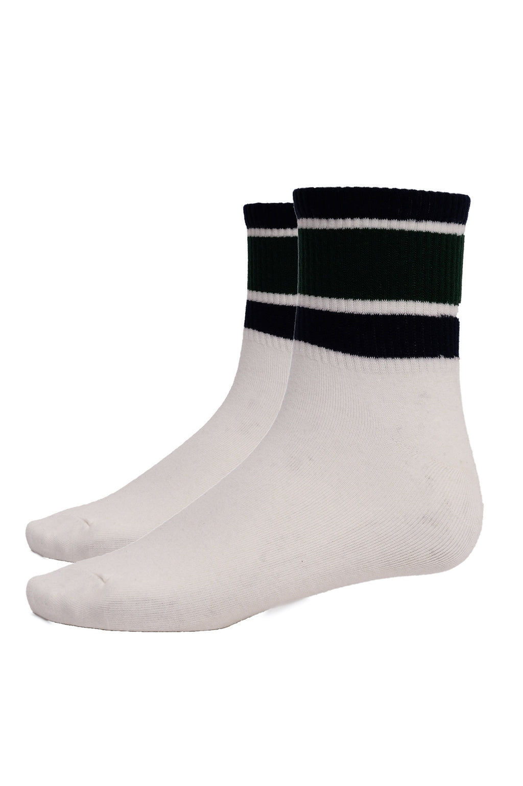 SPORTS SOCKS -WHITE-GREEN