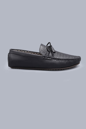 WOVEN LOAFERS-BLACK