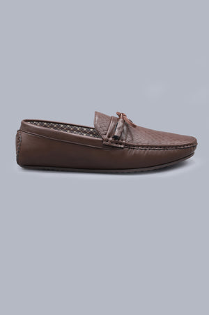 WOVEN LOAFERS-COFFEE