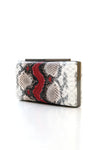 SNAKESKIN CLUTCH-RED
