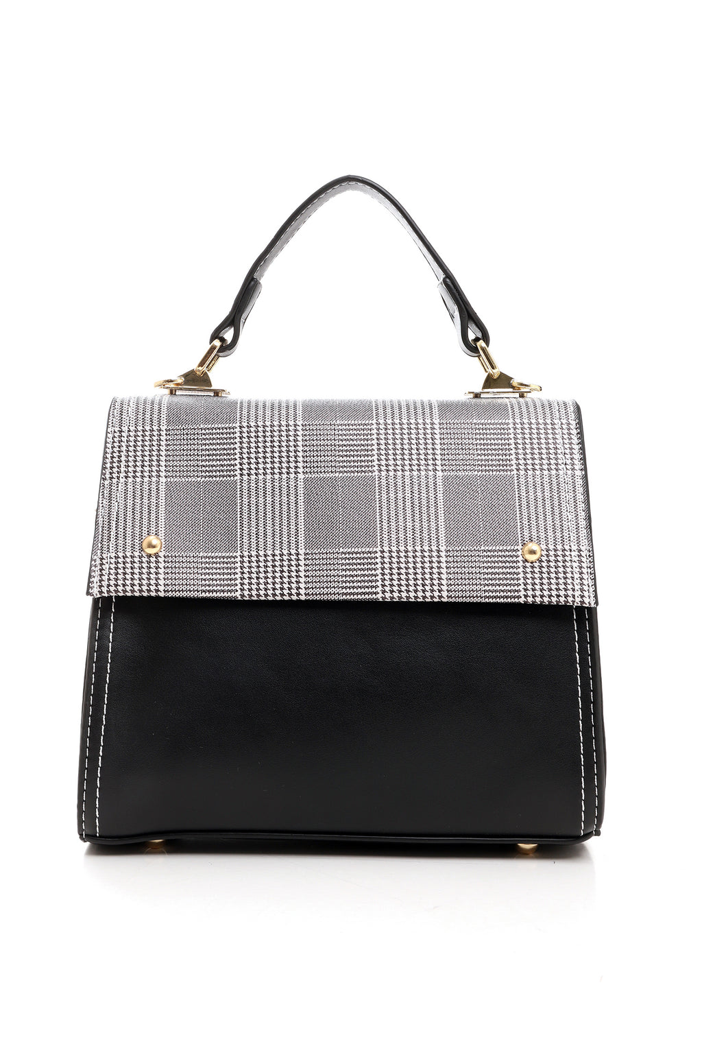 MINI CROSSBODY-BLACK & CHECK