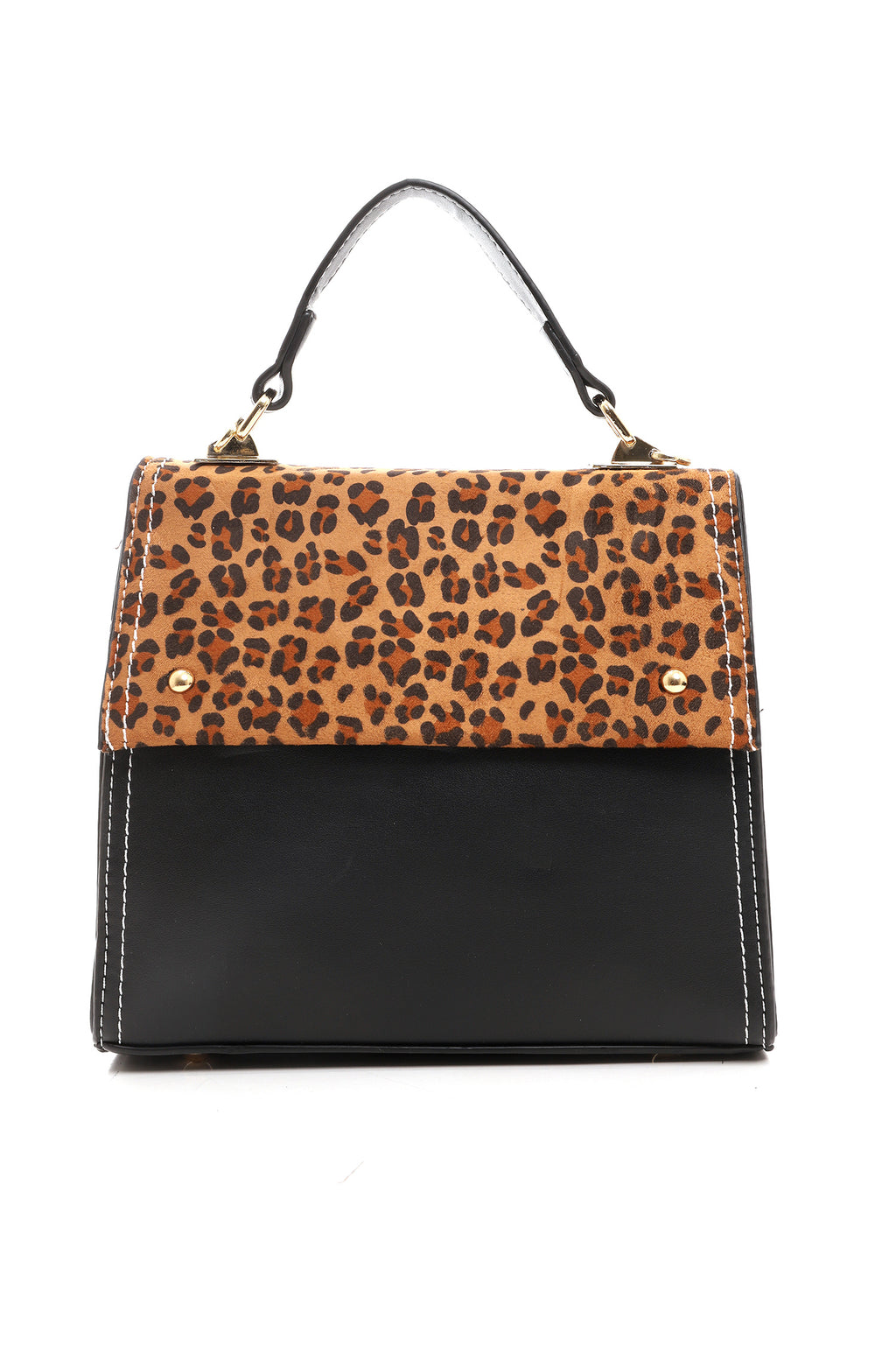 MINI CROSSBODY-BLACK & LEOPARD