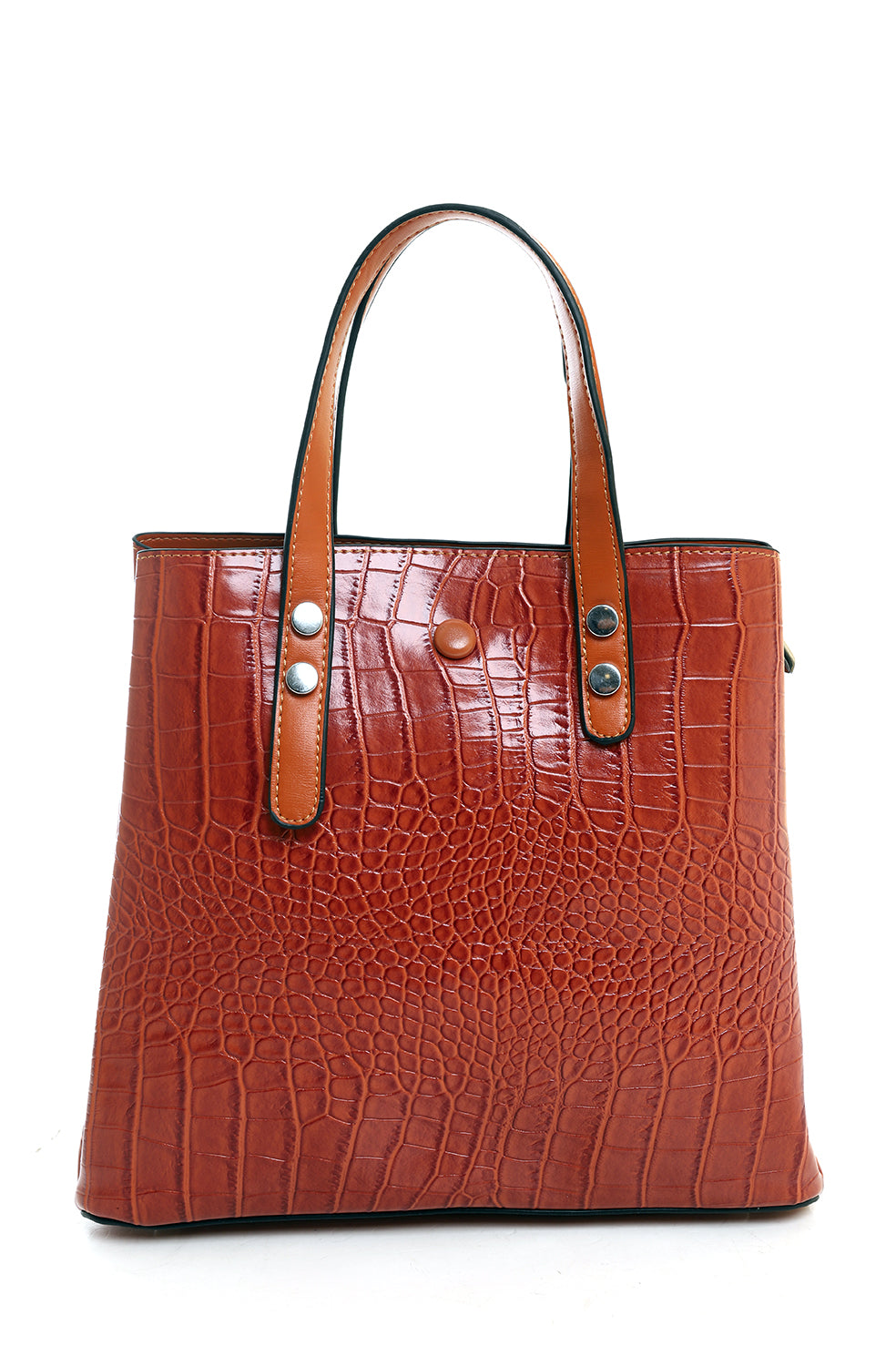 SNAKE SKIN PURSE-BROWN