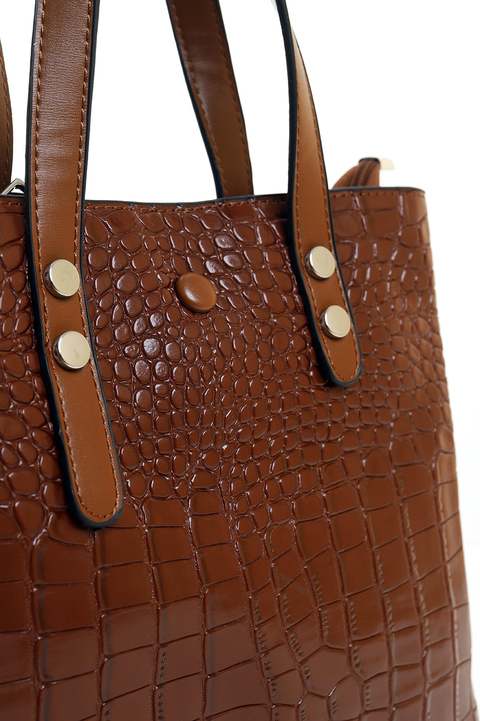 SNAKE SKIN PURSE-COFFEE