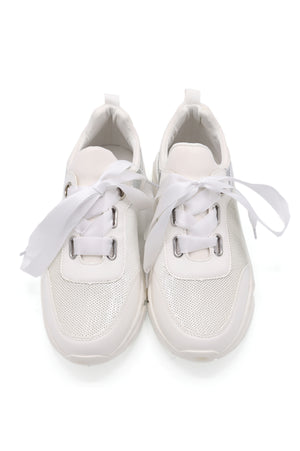 SEQUIN SNEAKERS-WHITE