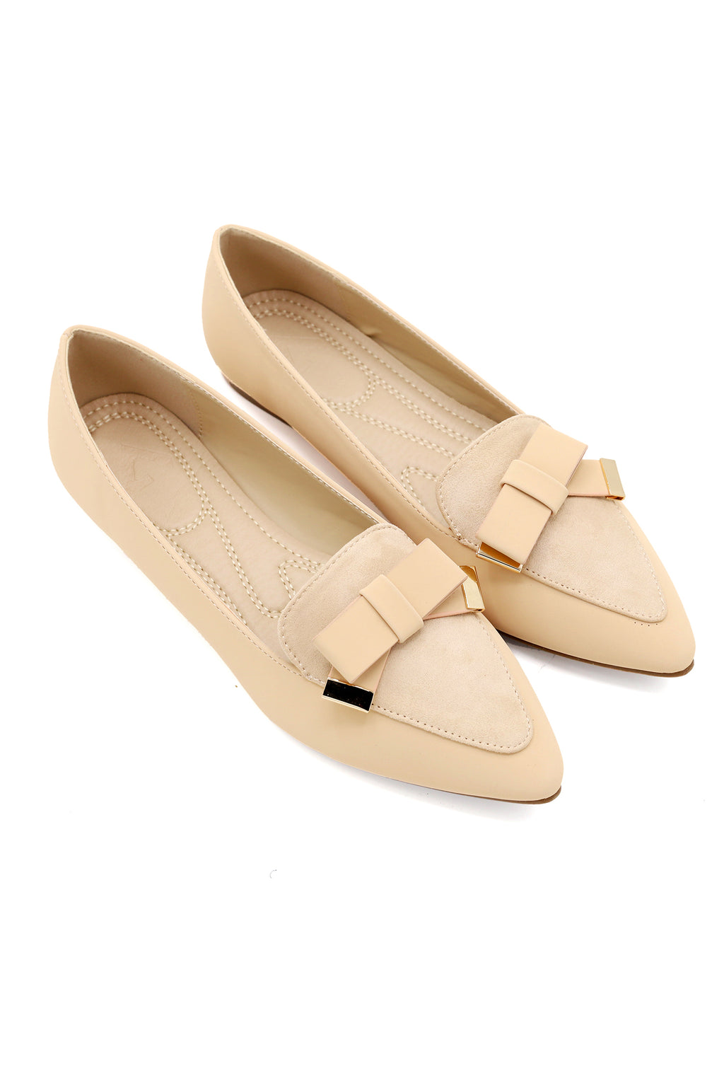 BOW PUMPS-BEIGE