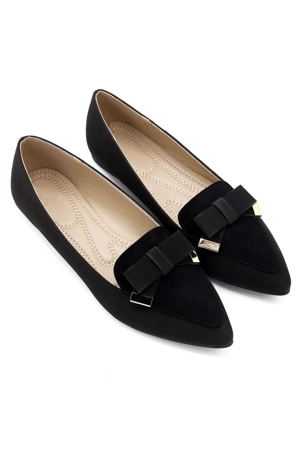 BOW PUMPS-BLACK