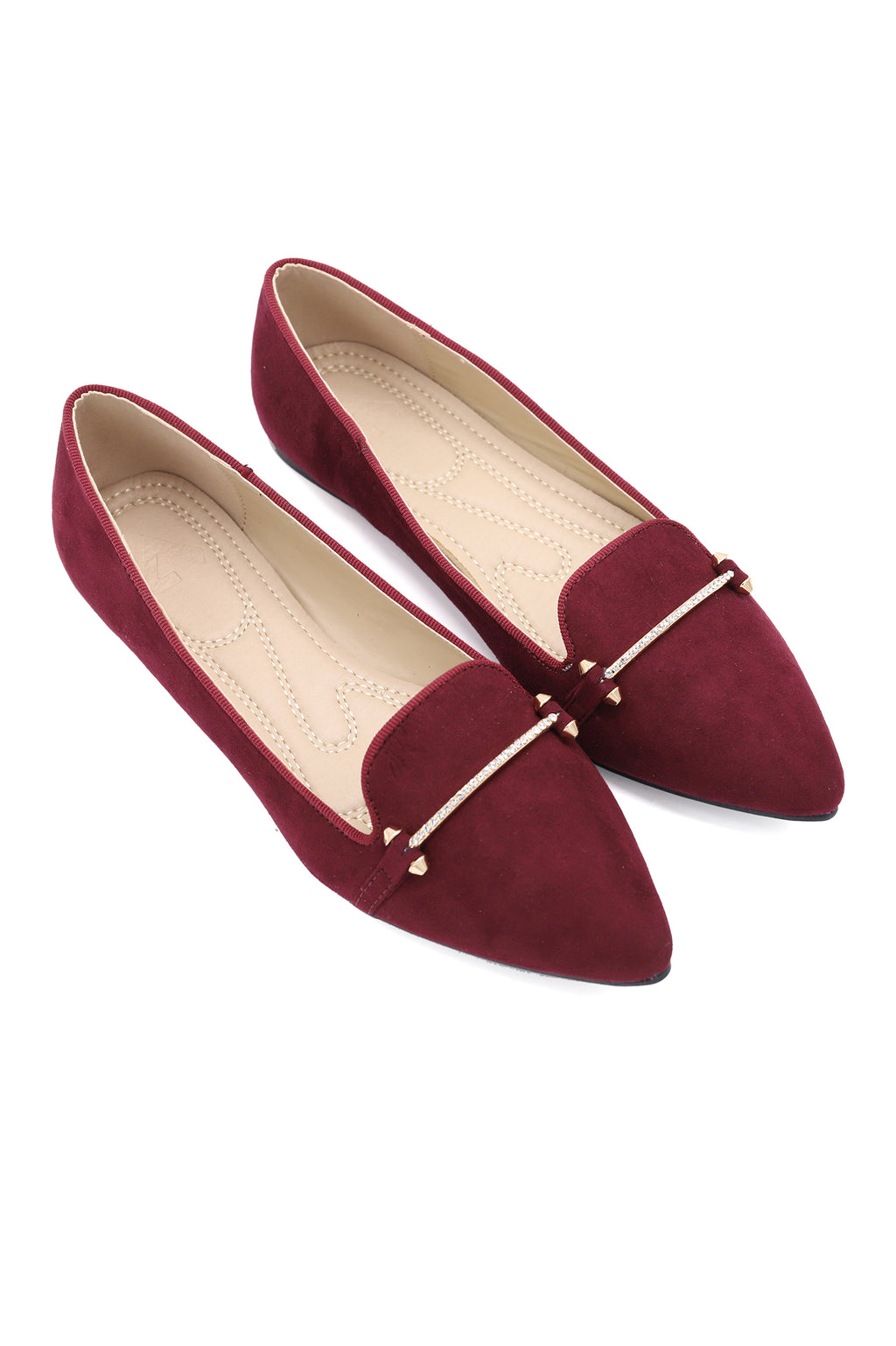 SUEDE SLIPONS-BURGUNDY