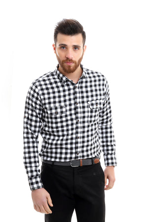 MONOCHROME SHIRT-BLACK & WHITE