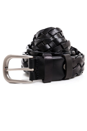 BRAIDED BELT -BLACK