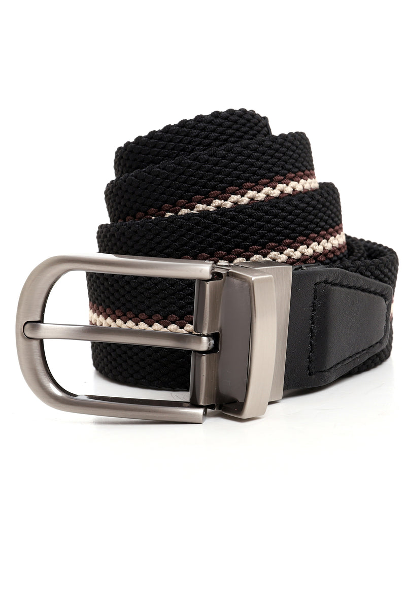 STRETCH BELT-BLACK-COFFEE