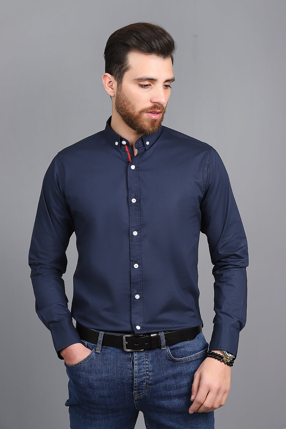 BASIC BUTTON DOWN-NAVY