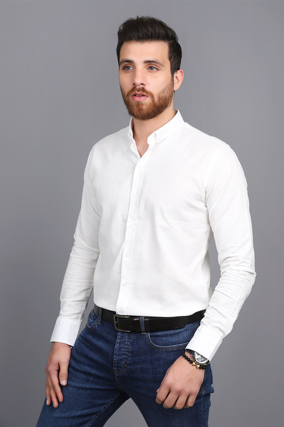 OXFORD SHIRT-WHITE