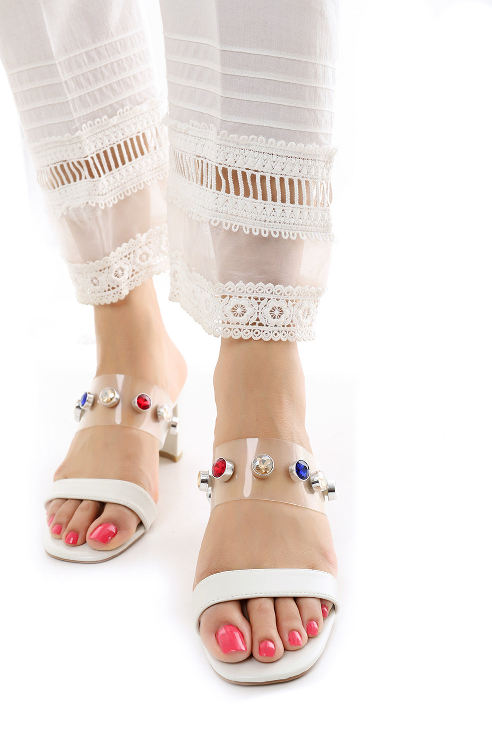 COSMIC SANDALS-WHITE