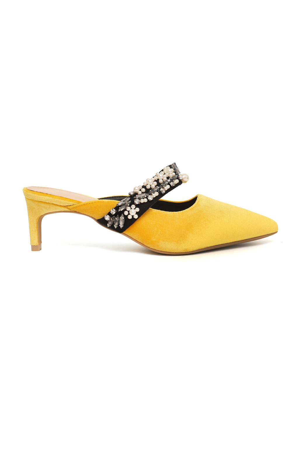 CORDROUY MULES-YELLOW
