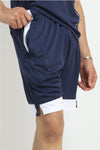 ACTIVE COLOURBLOCK SHORTS-NAVY/WHITE
