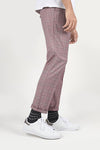 CHECKERED PANT-LIGHT RED
