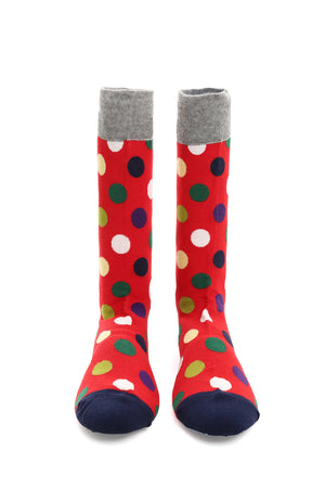 POLKA DOT SOCKS-RED