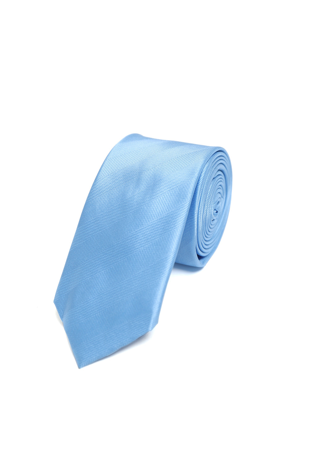 TWILL TEXTURED TIE-LIGHT-BLUE