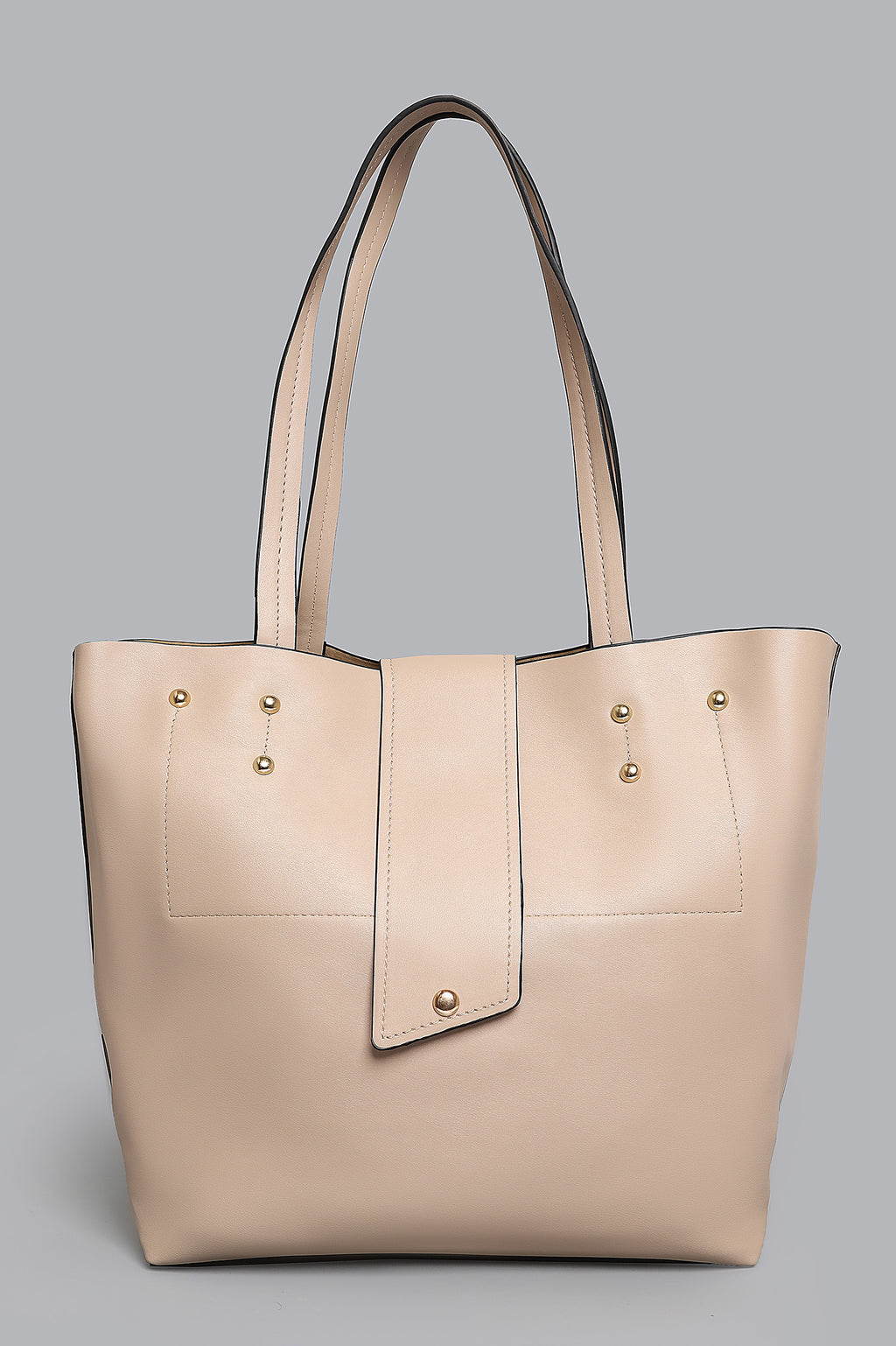 LEATHER TOTE-KHAKI