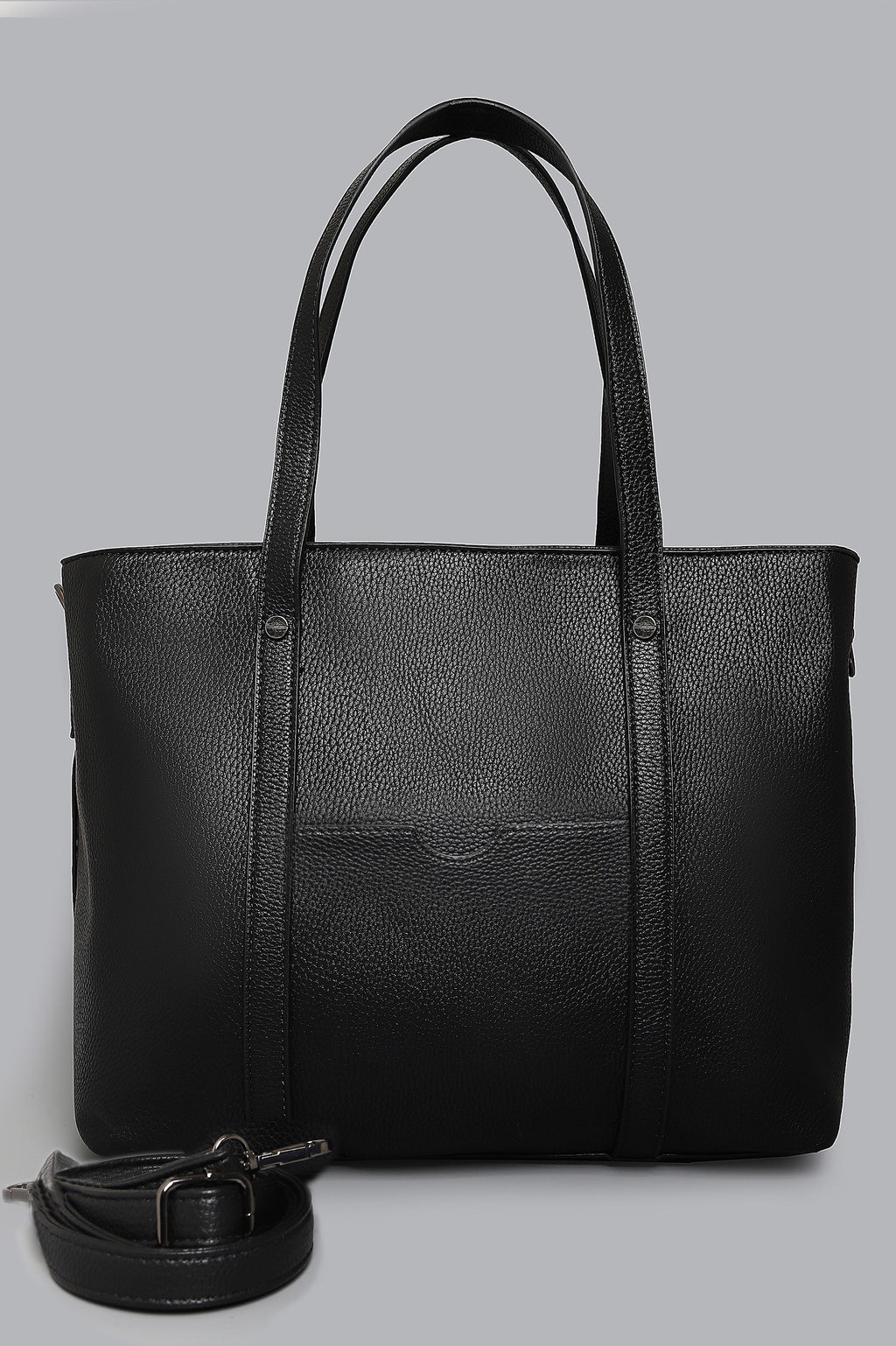 TEXTURED BAG-BLACK