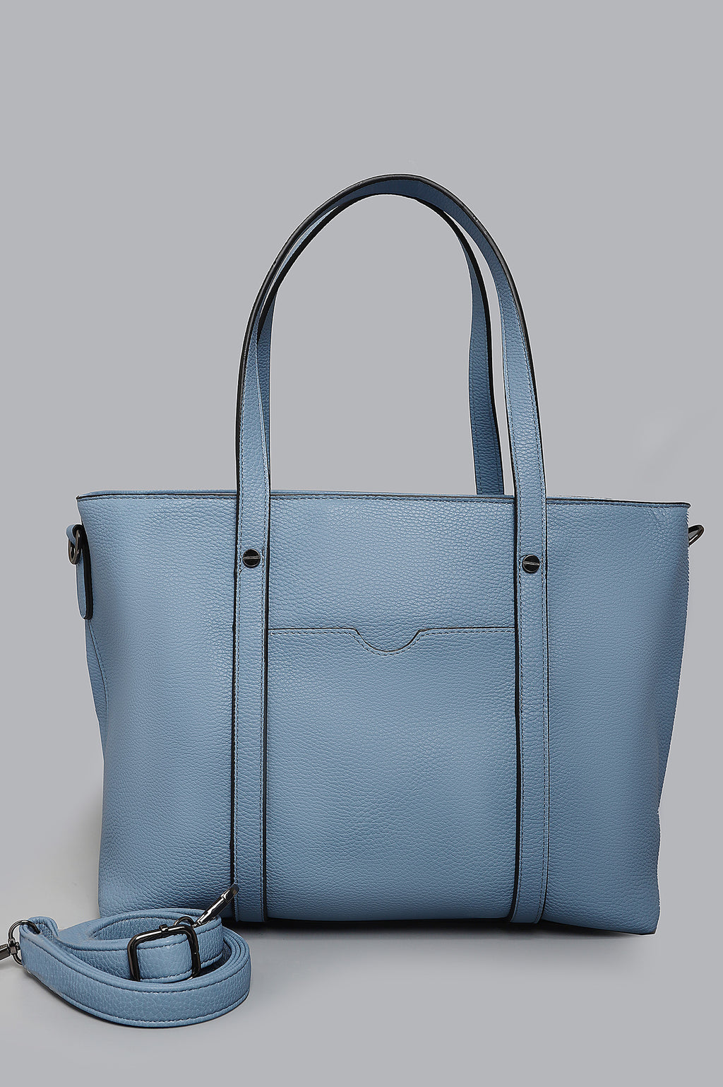 TEXTURED BAG-BLUE