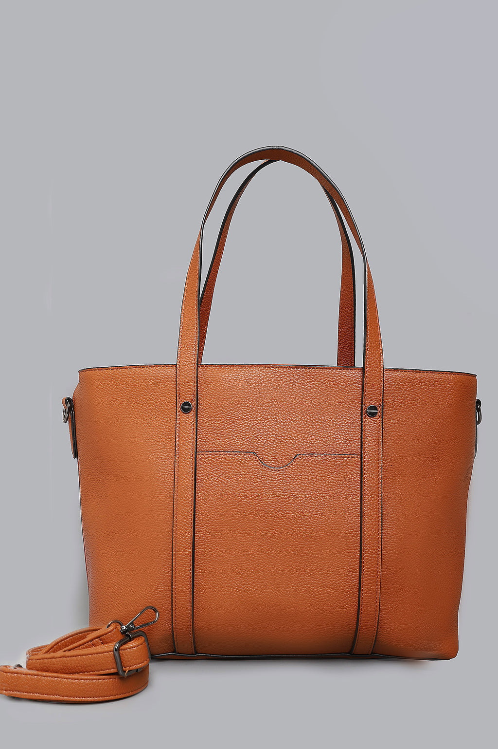 TEXTURED BAG-BROWN