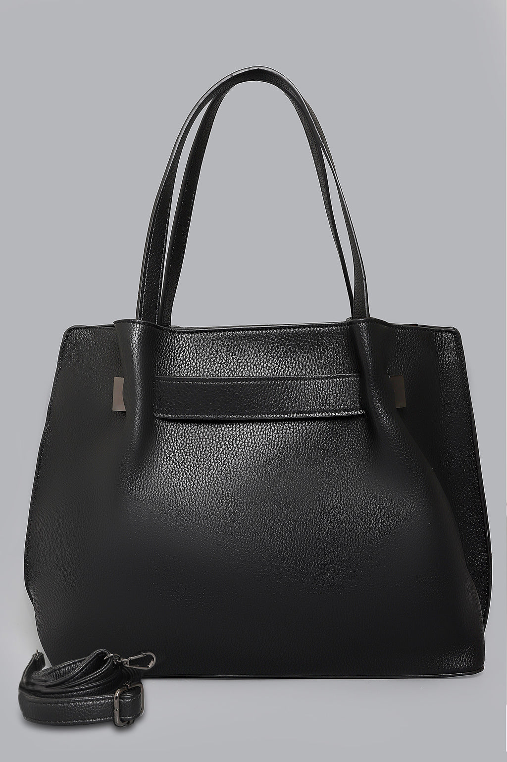 CROSS-GRAIN SATCHEL-BLACK