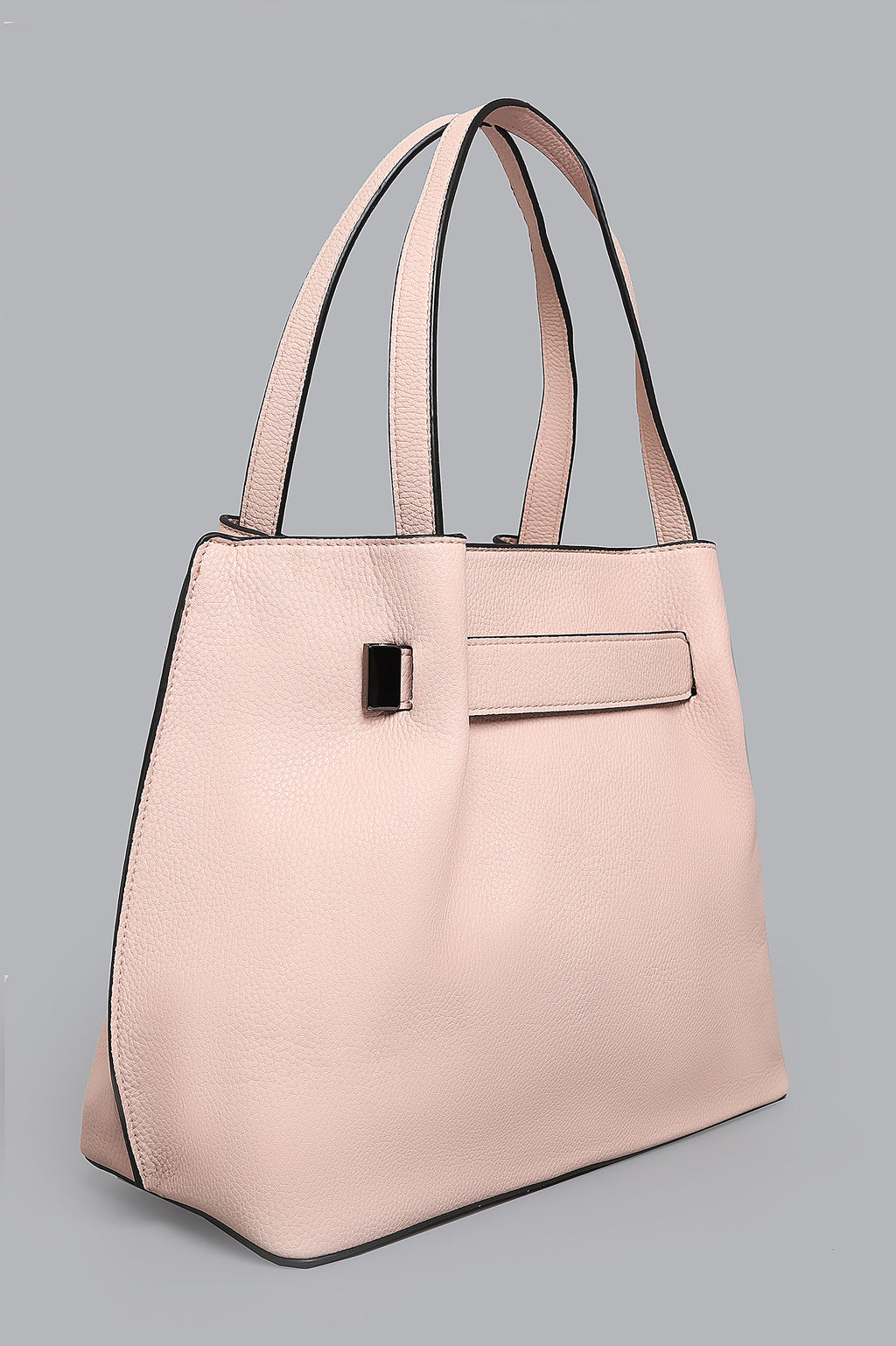 CROSS-GRAIN SATCHEL-PINK