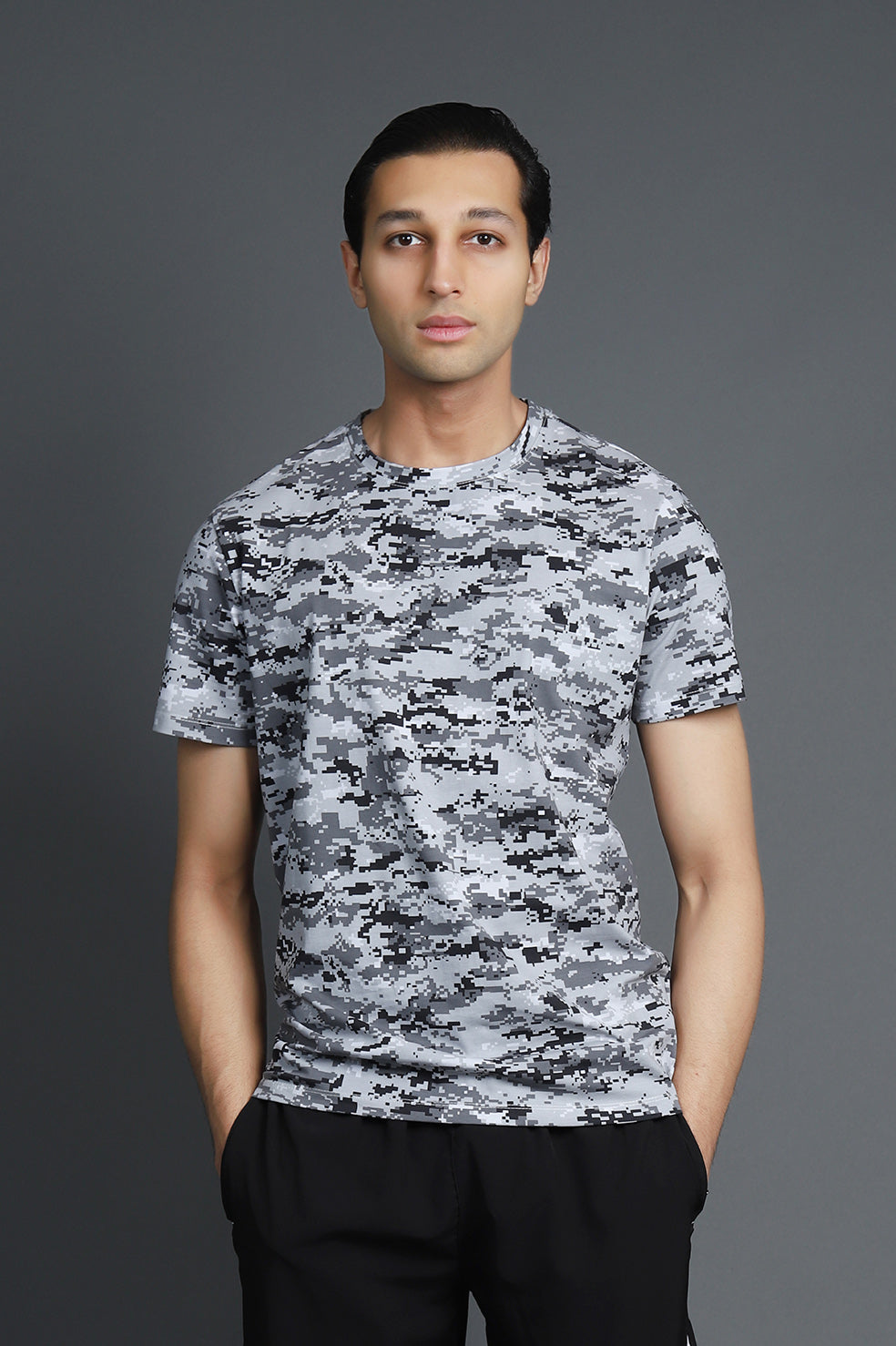 DIGITAL PRINT TSHIRT-LIGHT- GREY