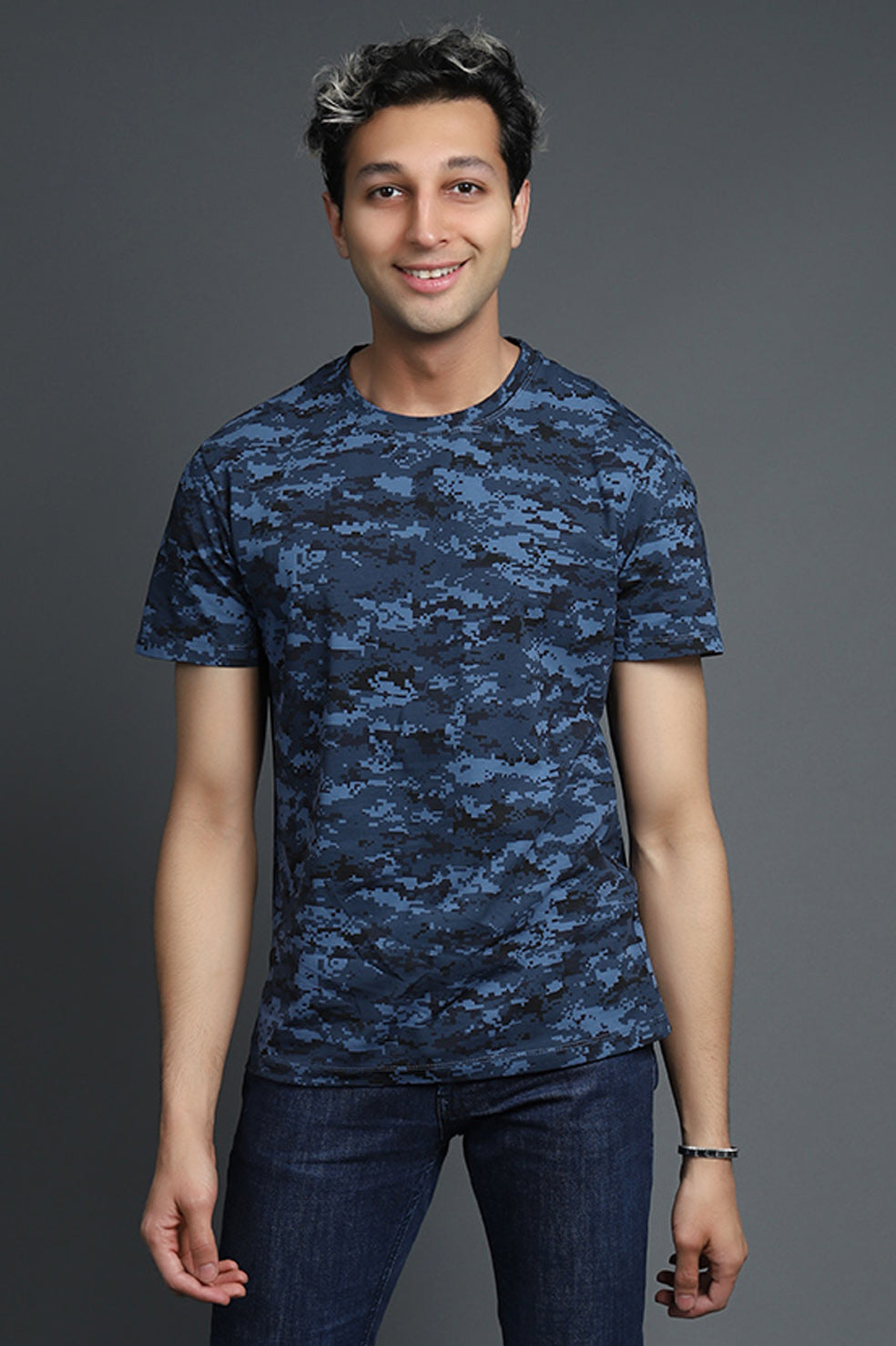 DIGITAL PRINT TSHIRT-NAVY