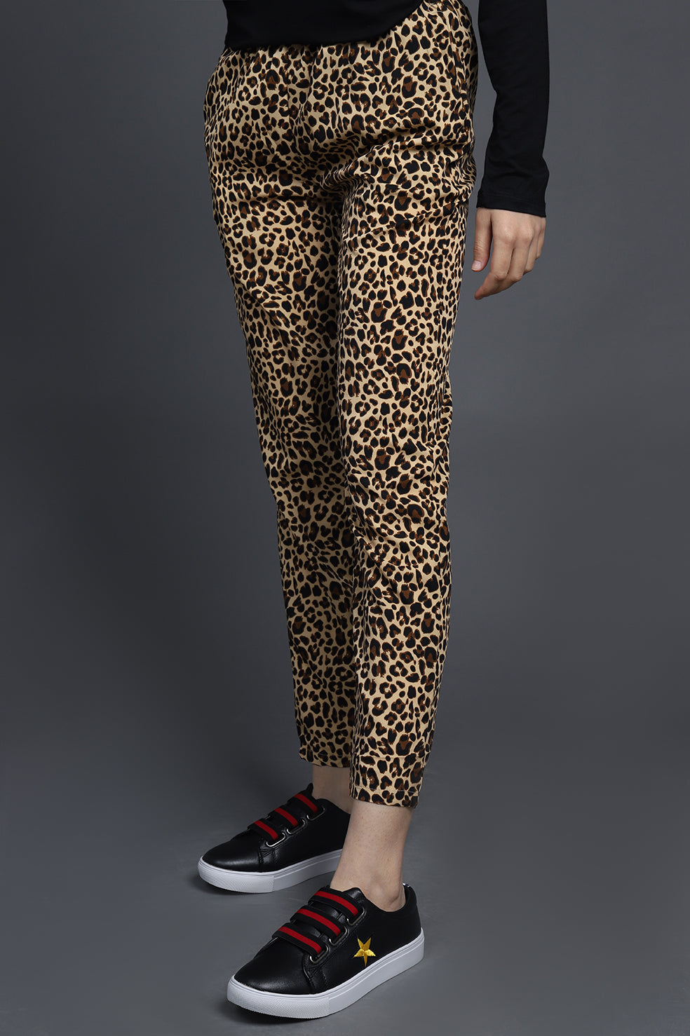 TAPERED PANTS-LEOPARD