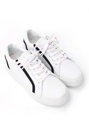 EMBOSSED SNEAKERS-WHITE-BLACK