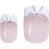 Nail Kit Glamour Look, Square Silver Ribbon