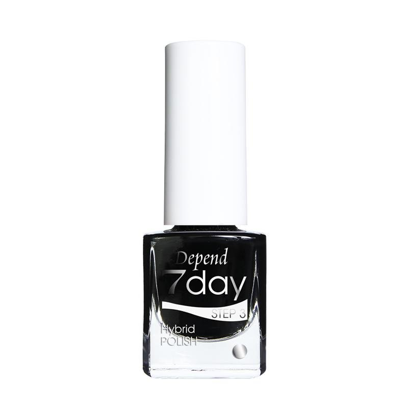 7Day Hybridpolish Nr.7013 Goth Black - Crystal Cosmetics e-Store