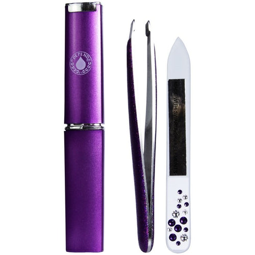 Glass File Kit With Swarovski Crystals - Crystal Cosmetics e-Store
