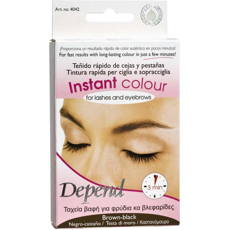 Instant Color For Lashes And Eyebrows Brown Black - Crystal Cosmetics e-Store
