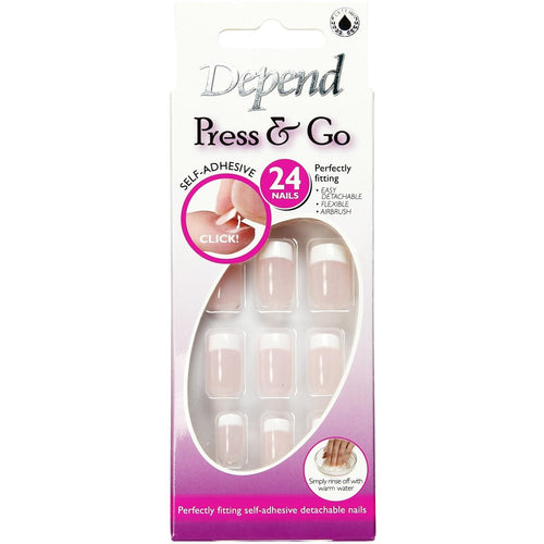 Nail Kit Press & Go, Soft Pink - Crystal Cosmetics e-Store