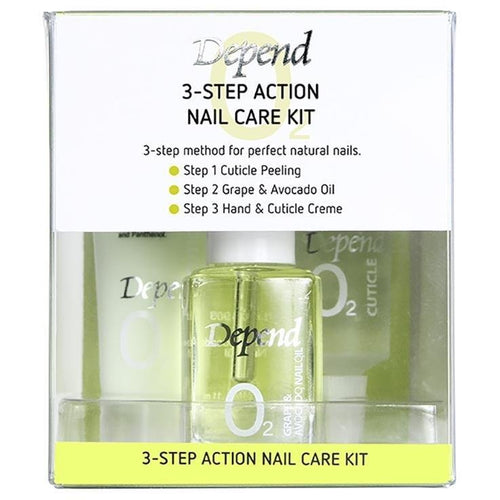 O2 3-Step Action Nail Care Kit - Crystal Cosmetics e-Store
