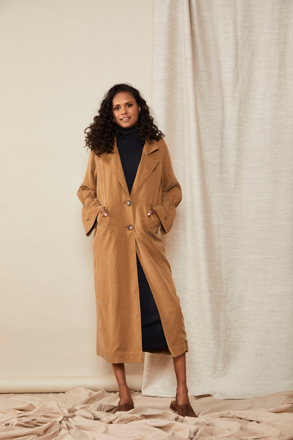 Scrunch Trench | Toffee