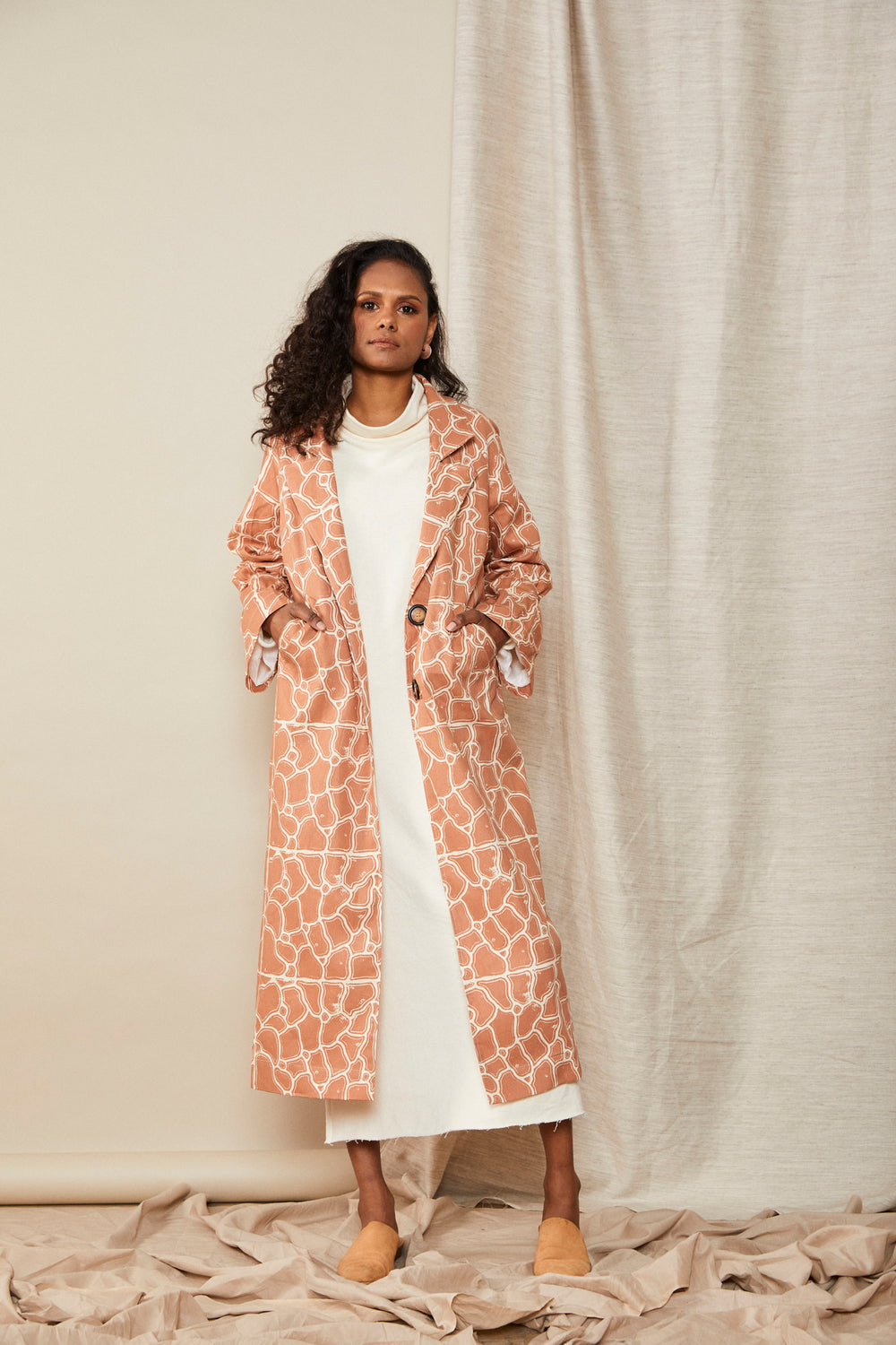 LW Scrunch Trench | Red Earth