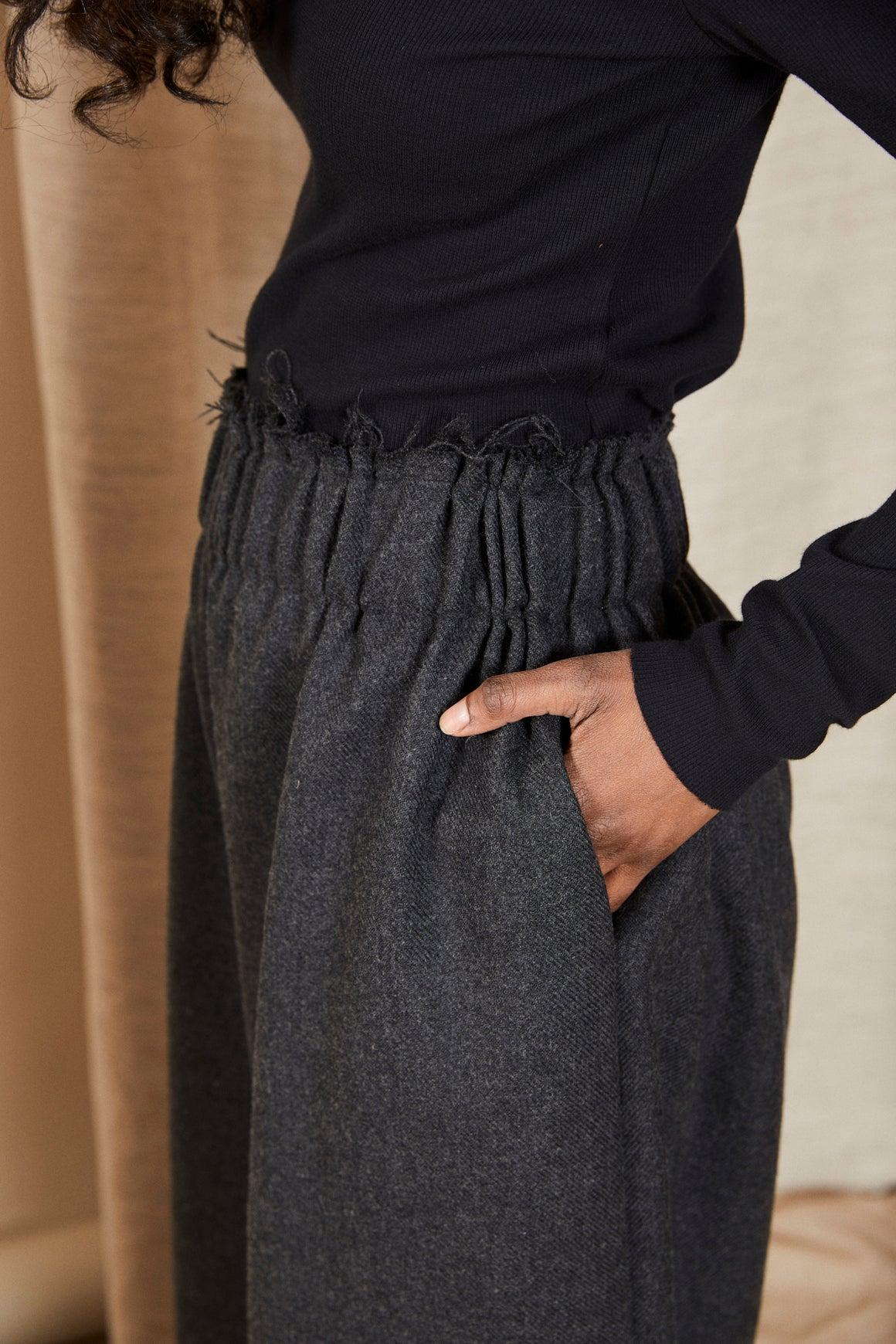 Scrunch Pant | Charcoal