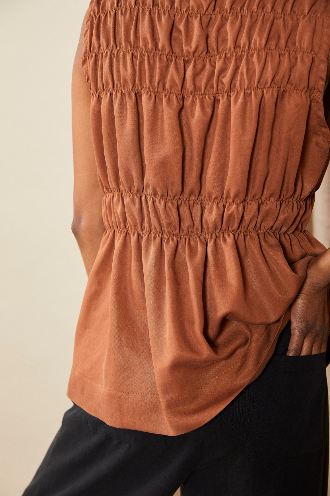 Scrunch Top | Terracotta