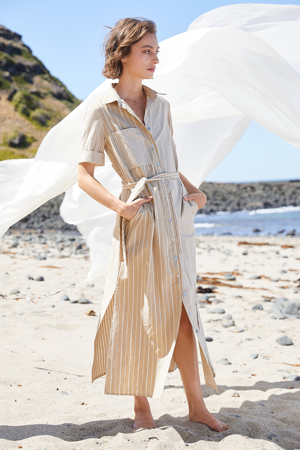 Club Shirt Dress | Sand