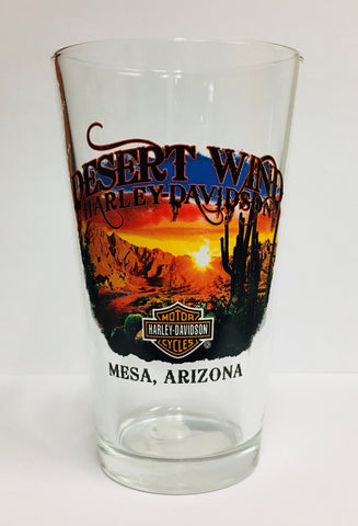 Desert Wind H-D Pint Glass