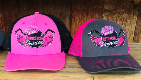 Motorcycle Princess Bling Ballcaps