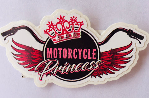 Motorcycle Princess Decal #1
