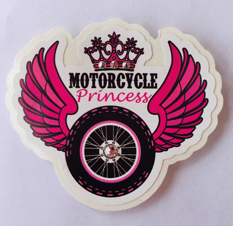 Motorcycle Princess Decal #2